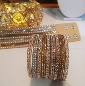 Beautiful and sparkly tan cuff